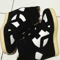 Jual sneaker hidden wedges sepatu wanita hak tinggi heels boots zumba kets Murah