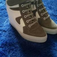Sneaker hidden wedges sepatu wanita hak heels tinggi boots kets zumba