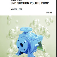 pompa Ebara centrifugal capasitas :500L/min/H ,head :35 meter