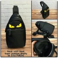Waist Bag FENDI Black Premium kode 1033