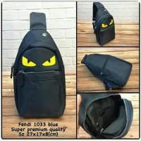 Waist Bag FENDI Blue Premium kode 1033