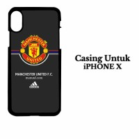 Casing IPHONE X manchester united FC Adidas Hardcase Custom Case Cover