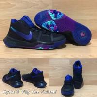 Sepatu Basket Nike Kyrie 3 Flip The Switch Black Purple Hitam Ungu