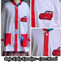 Baju Muslim Anak BAJU KOKO  CARS MERAH SIZE XL