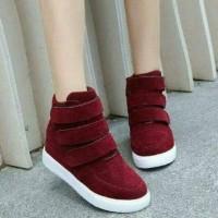 grosir sepatu wanita murah online SEPATU BOOTS KOREAN VALERY MAROON S