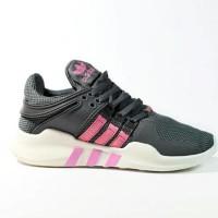 Sepatu Adidas Equipment EQT Premium Import/ Abu Abu Pink / Sport Cewek