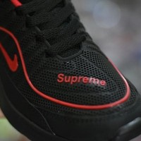 Sepatu Sport Nike Airmax Supreme Running - Full Black Hitam Merah