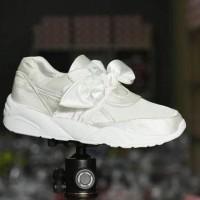 Sepatu Puma Fenty Bow Sneakers Women / Putih Silver / BOW 05