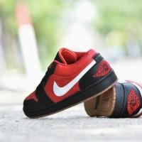 Sepatu Casual Nike Air Jordan Grade Ori Hitam Merah - Pria