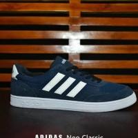 Sepatu Adidas Neo Classic Grade Ori - Biru Navy - Casual Pria