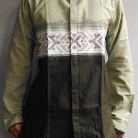 ESW - Baju Koko Model Terbaru Baju Koko Dewasa Bordir Modern Terbaru R