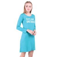LEMONE T-shirt Kaos Cewe Spandek Premium Dress Wanita 511S601337 Tosca