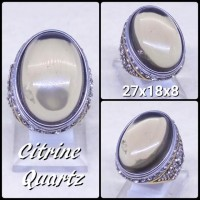 CINCIN BATU AKIK PERMATA NATURAL LEMON CITRINE HIGH QUALITY PREMIUM