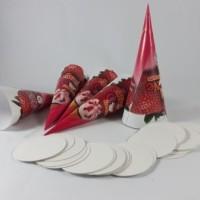 kemasan mini cone untuk es krim/ Kemasan Cone cornetto
