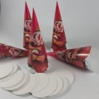 kemasan mini cone unik/ Kemasan Cone cornetto / paper cone