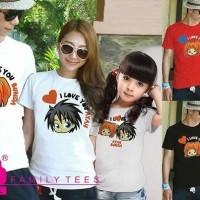 Baju Kaos Couple Keluarga Family Tees FT26 I LOVE YOU AYAH BUNDA