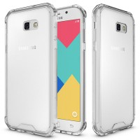 Samsung Galaxy A3 2017 Clear TPU Cushion Hybrid Case casing cover