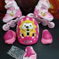 sepatu roda anak fullset (body protector+helm) / inline skate