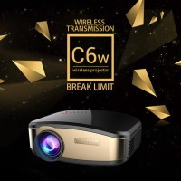 Jual Cheerlux C6 Wireless Proyektor Projector WIFI 1200 ANSI Lumens TERBARU Murah