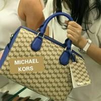 a1bbd75db3de TAS MICHAEL KORS MERCER LARGE SATCHEL BLUE ORIGINAL Limited