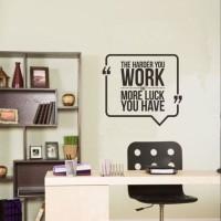 Wall Stiker Qutes The Harder You Sticker Dinding Kamar Rumah Kantor