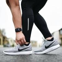 Promo Nike LunarEpic 2 Low Flyknit Wolf Grey Sepatu Jalan Pria Olahra