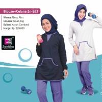 Promo Stelan Olahraga Wanita Baju Senam Muslim Baja Erobik Zenitha 28