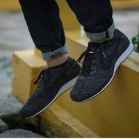 Promo Sepatu Nike Flyknit Racer Premium Original Black out Sepatu ola