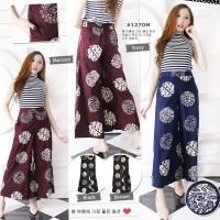 Celana Panjang Wanita - kulot Batik Modern - Bawahan Batik