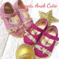 Sepatu Bayi Balita Anak Pesta Formal pink(size 22-30)