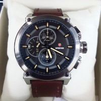 EXPEDITION Original-E6612M-Jam Tangan Pria-Kulit Coklat