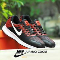 Sepatu Nike Airmax Zoom Cushlon GRADE ORI Hitam Orange Sport Casual