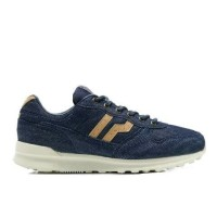 Sepatu PIERO JOGGER DENIM BROWN NAVY Original