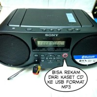 Compo sony bombox zs-rs60bt bluetooth usb radio am/fm Berkualitas