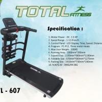 TL 607 Treadmill Elektrik Listrik 4 fungsi GARANSI spt shaga kettler