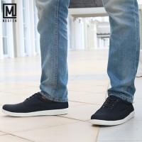 Sepatu Pria Casual Sepatu Sneakers Morfem Comet Black Trendy Branded