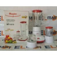 Maspion blender wet & dry mill gelas kaca 1L MT 1213
