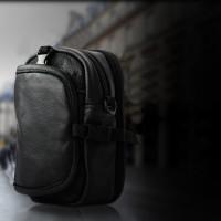 Tas selempang pinggang Sarung hp outdoor sport army kulit import brand