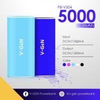 Jual Power Bank V-GeN 5000mAh V504 Rescue   Vgen   PB Murah