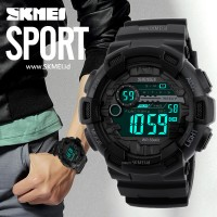 Jam Tangan Pria Keren Original SKMEI Anti Air Casio Sport LED Watch