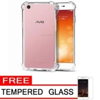 case anti crack for vivo v7+ free tempered glass