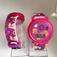 Jam Tangan Anak Murah Digital Pink Food W295