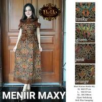 Batik Dress Maxi Long Dress Gamis Muslim MENIIR MAXI