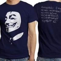 Harga kaos anonymous hacker 2 biru dongker distro komputer   WIKIPRICE INDONESIA