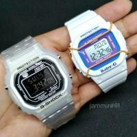 Harga best arloji jam tangan couple casio g shock gls baby g white | Pembandingharga.com