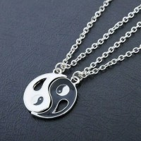 necklace couple yin yang hati liontin unik limited stok impor korea