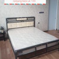 ranjang besi / ranjang minimalis/ tempat tidur uk 120