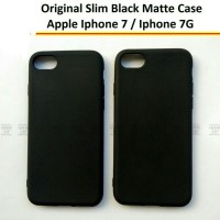Softcase Slim Matte Black apple IPhone 7 7G Casing Hp IPhone 7G Siliko