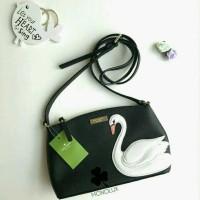 NWT Kate Spade Swan Around Black (Tas Wanita Sling Bag Hitam Original)
