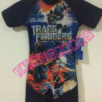 Baju Renang anak motif transformer
